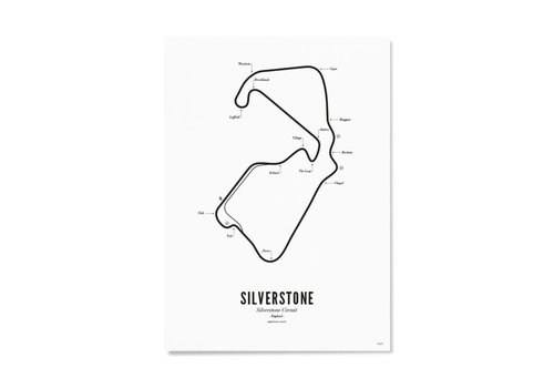 Wijck 30x40 Poster Circuit Silverstone wit