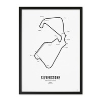Poster 30x40 - Circuit Silverstone wit