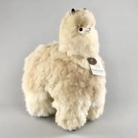 Alpaca groot bruin naturel