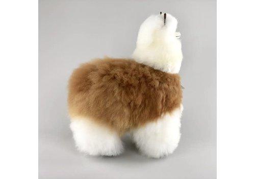 Inkari Alpaca groot wit-bruin