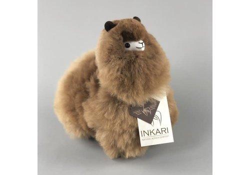 Inkari Alpaca Klein gemeleerde bruintinten