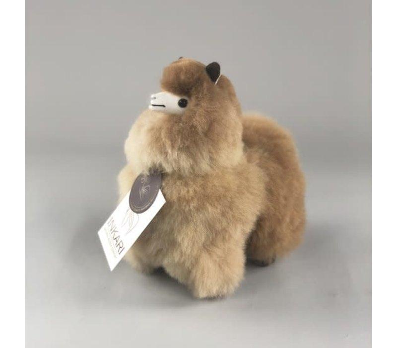 Alpaca Klein gemeleerde bruintinten