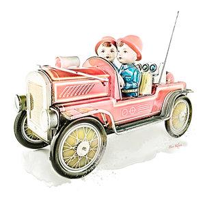Ben Kleyn Poster | Speelgoed | Brandweer | Vintage | 30x30