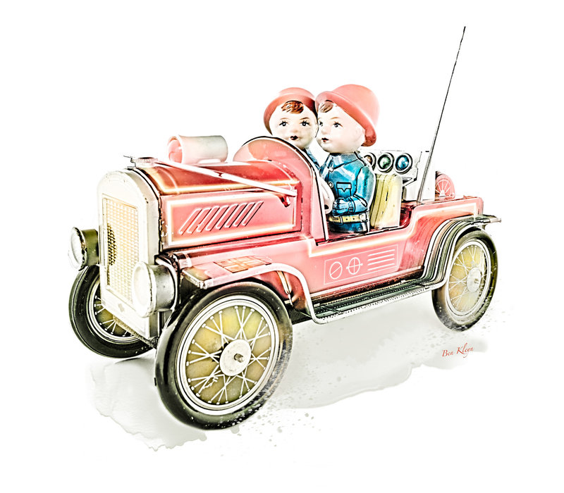 Poster | Speelgoed | Brandweer | Vintage | 30x30