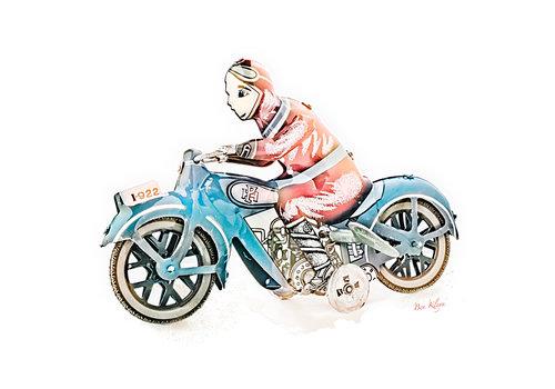 Ben Kleyn Poster | Speelgoed | Motor | Vintage | 30x30