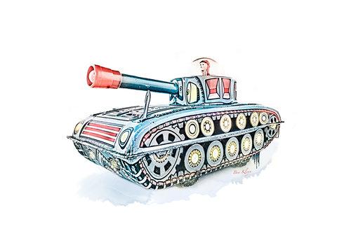 Ben Kleyn Poster | Speelgoed | Tank | Vintage |