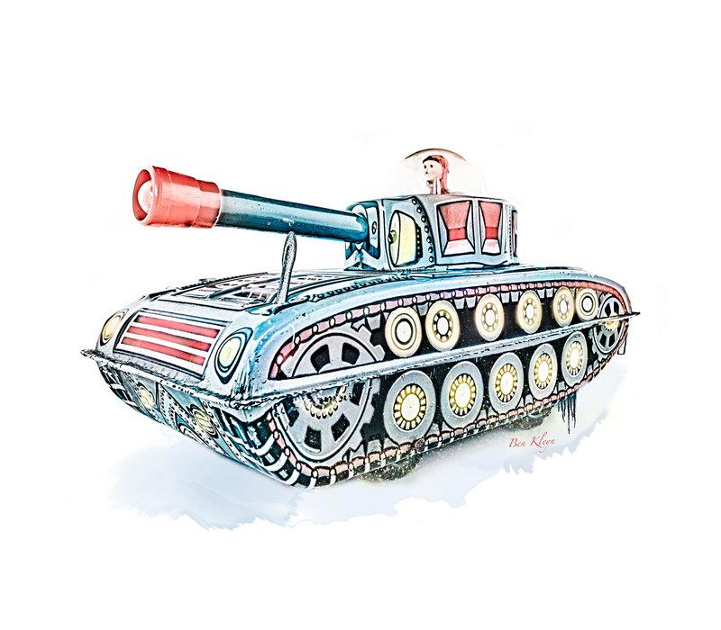 Poster | Speelgoed | Tank | Vintage |
