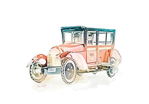 Ben Kleyn Poster | Speelgoed | Taxi | Vintage |