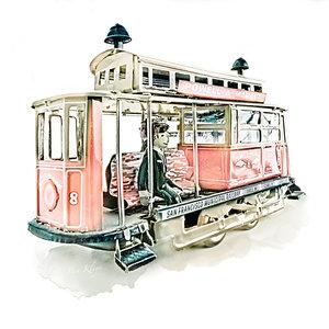 Ben Kleyn Poster   Speelgoed   Tram   Vintage  