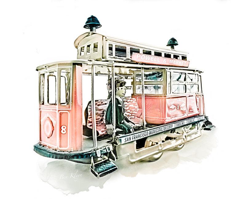 Poster | Speelgoed | Tram | Vintage |