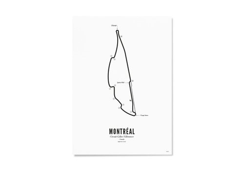Wijck Poster A4 - Circuit Montreal wit