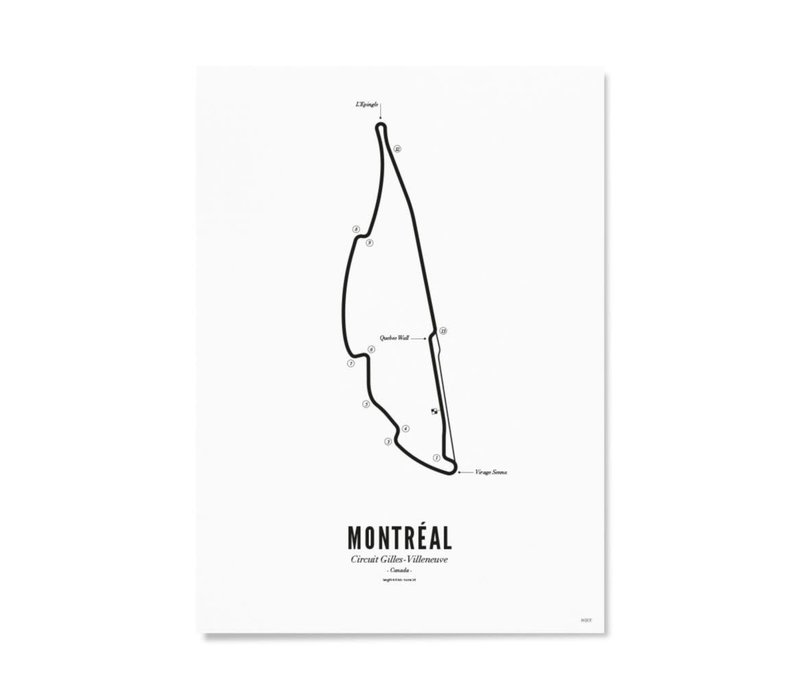 A4 Poster Circuit Montreal wit