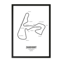 Poster A4 - Circuit Zandvoort wit