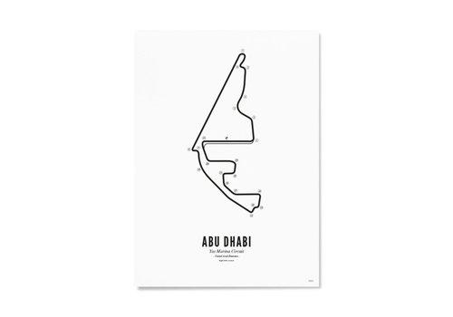 Wijck Ansichtkaart Circuit Abu Dhabi wit