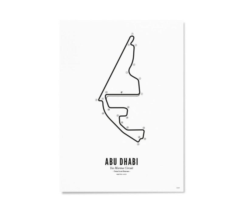 Ansichtkaart Circuit Abu Dhabi wit