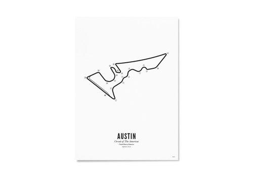 Wijck Ansichtkaart Circuit Austin wit