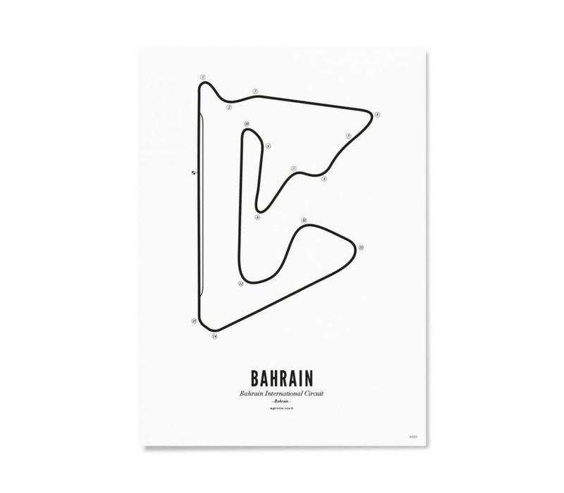Ansichtkaart Circuit Bahrain wit