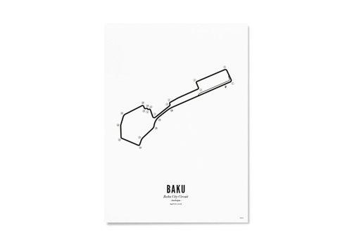Wijck Ansichtkaart Circuit Baku wit