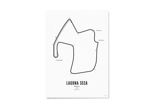 Wijck Ansichtkaart Circuit Laguna Seca wit