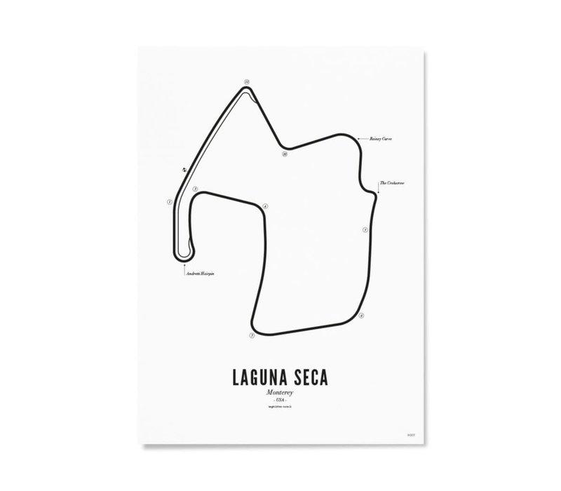 Ansichtkaart Circuit Laguna Seca wit