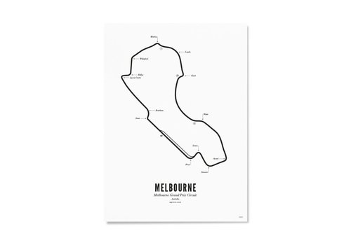 Wijck Ansichtkaart Circuit Melbourne wit