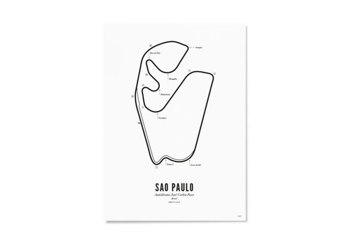 Wijck Ansichtkaart Circuit Sao Paulo wit