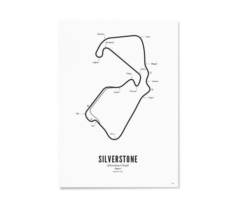 Ansichtkaart Circuit Silverstone wit