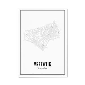 Wijck Poster A4 - Rotterdam Vreewijk