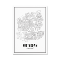 Poster Rotterdam stad 50x70