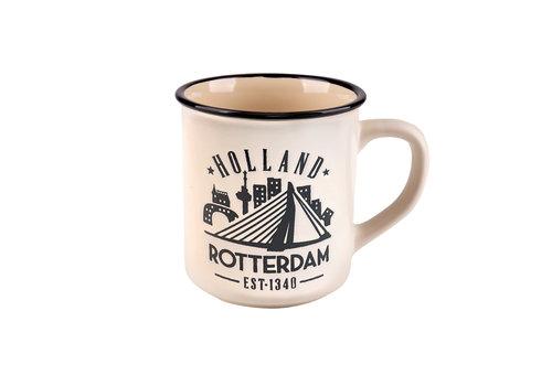Matix Campmug Rotterdam wit