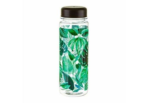 Sass & Belle Botanical Jungle clear water bottle