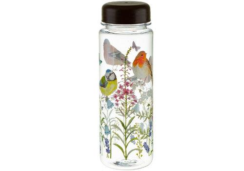 Sass & Belle Garden Birds clear water bottle