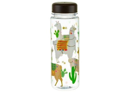 Sass & Belle Lima LLama Clear water bottle