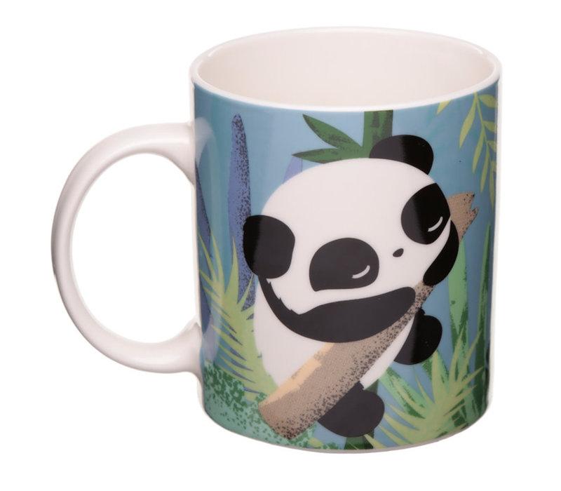 Beker met panda opdruk