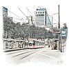 Ben Kleyn Rotterdam | Poster | Coolsingel tram | Vintage |