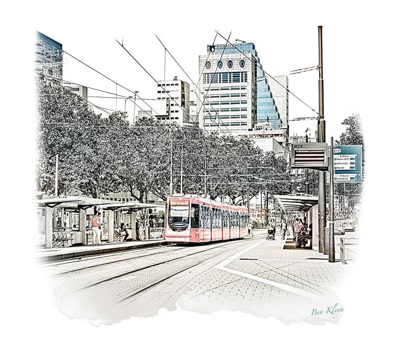 Rotterdam | Poster | Coolsingel tram | Vintage |