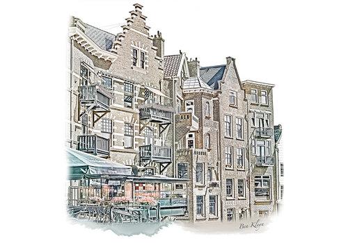 Ben Kleyn Rotterdam | Poster | Delfshaven 3 | Vintage |