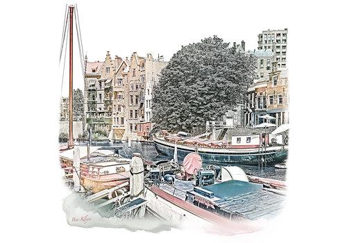 Ben Kleyn Rotterdam | Poster | Delfshaven 5 | Vintage |