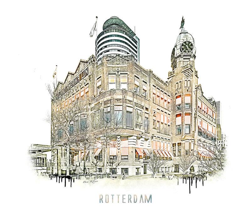 Rotterdam | Poster | Hotel New York 2 | Vintage |