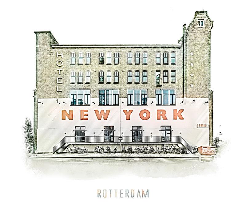 Rotterdam | Poster | Hotel New York 3 | Vintage |