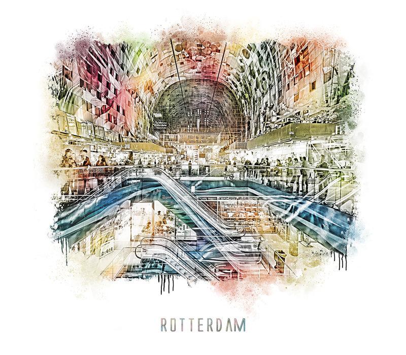 Rotterdam | Poster | Markthal 3 | Vintage |