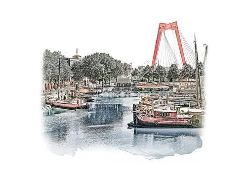 Ben Kleyn Rotterdam | Poster | Oude Haven 2 | Vintage |