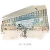 Ben Kleyn Rotterdam | Poster | Centraal station 4 | Vintage |30x30