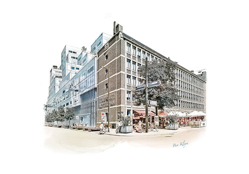 Ben Kleyn Rotterdam   Poster   Timmerhuis – Meent   Vintage  
