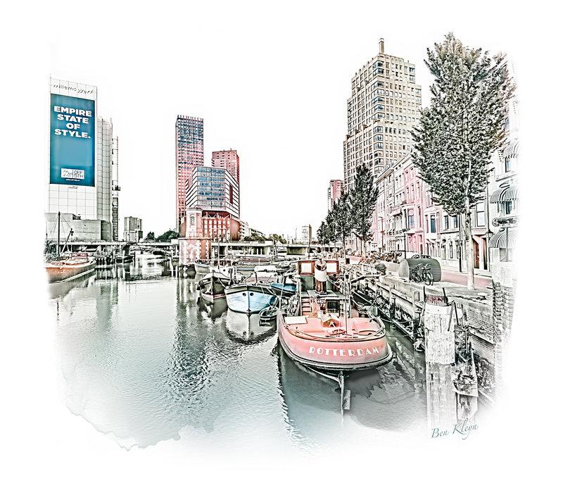 Rotterdam   Poster   Wijnhaven   Vintage  