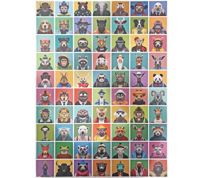 Poster Zoo portraits pastel