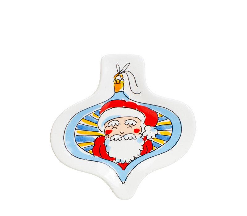 Kerst , bordje met kerstman opdruk