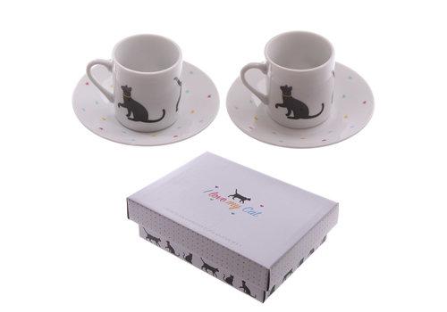 Puckator Espressoset zwarte katjes