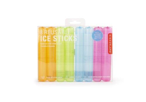 Kikkerland 8 herbruikbare ijs sticks