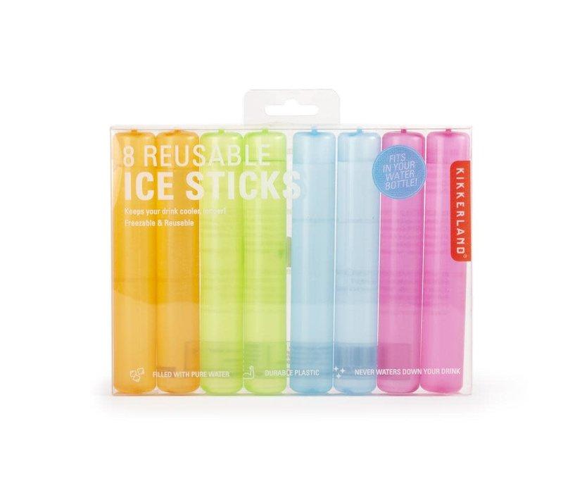 8 herbruikbare ijs sticks